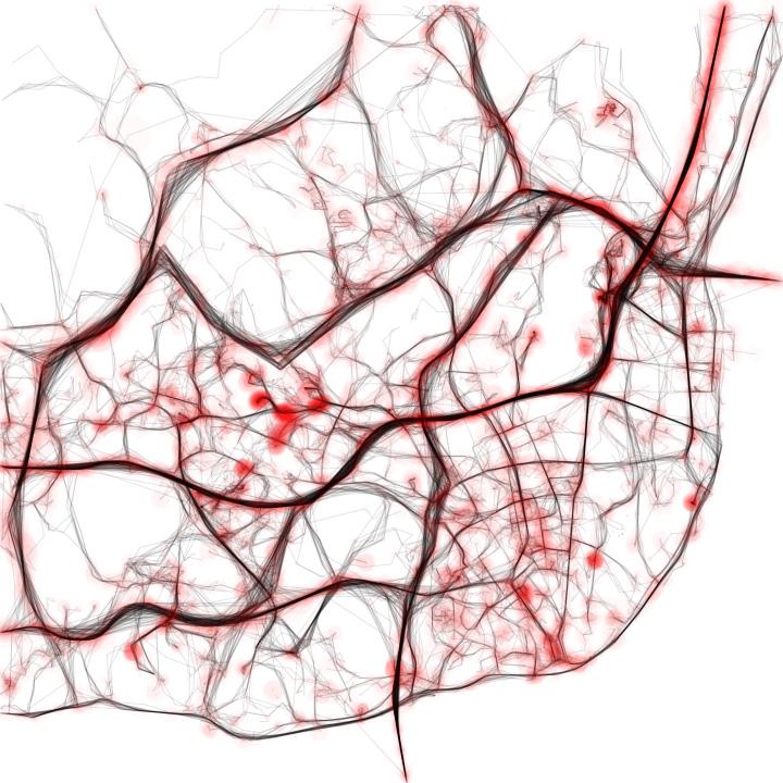 Visualização do trânsito em Lisboa (imagem de Pedro Cruz)